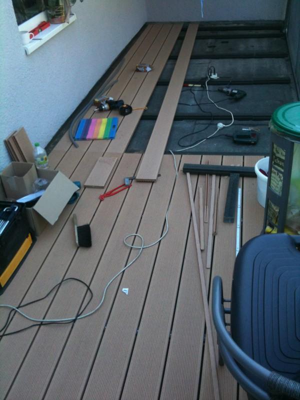 Projekt-Beispiel neuer Balkonboden