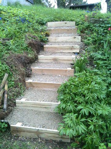 Projekt-Beispiel Gartentreppe
